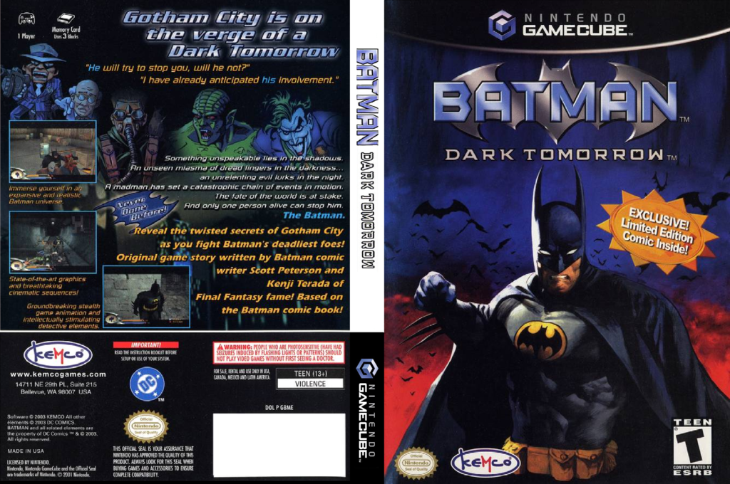 Batman: Dark Tomorrow Wii coverfullHQ (GBME7F)