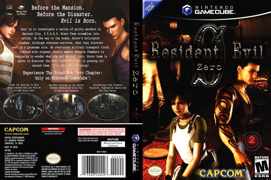 Resident Evil Zero Wii coverfullHQ (GBZE08)