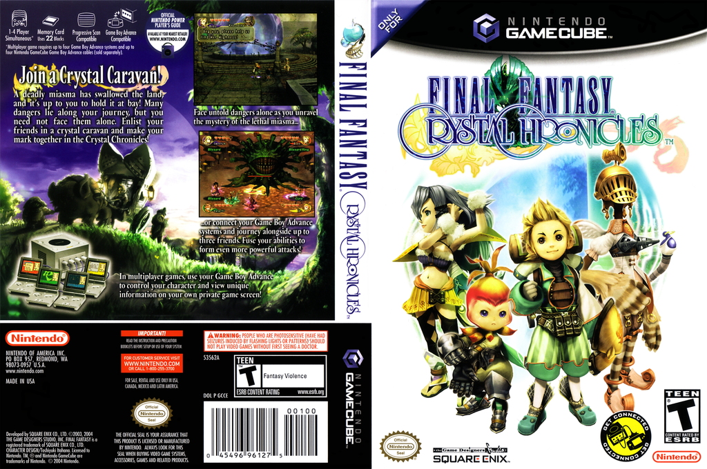 Final Fantasy Crystal Chronicles Wii coverfullHQ (GCCE01)