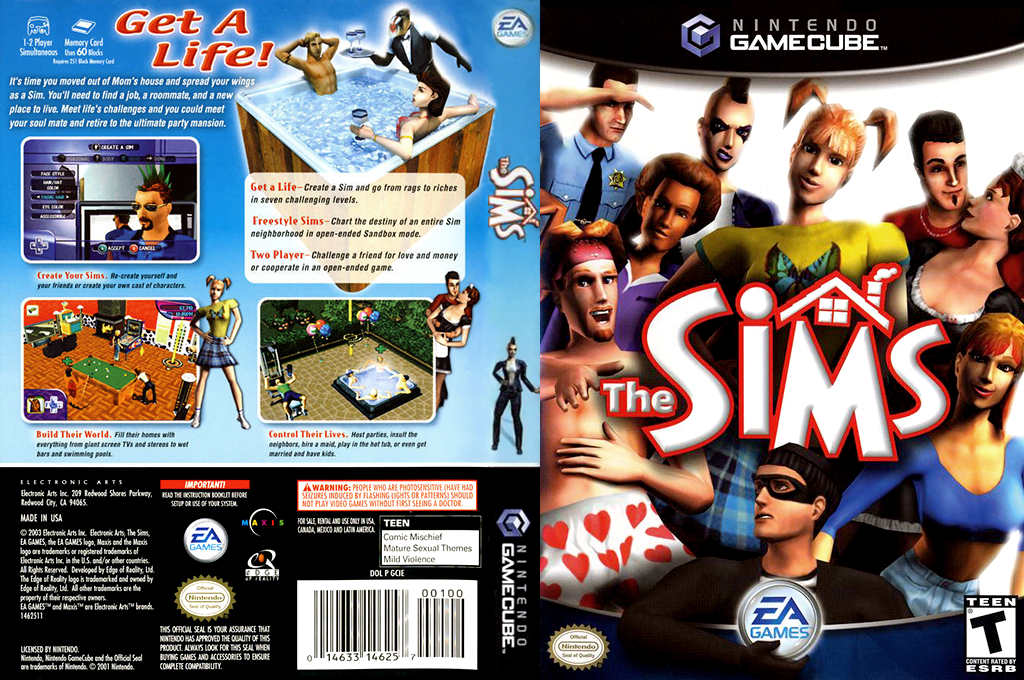 The Sims Wii coverfullHQ (GCIE69)