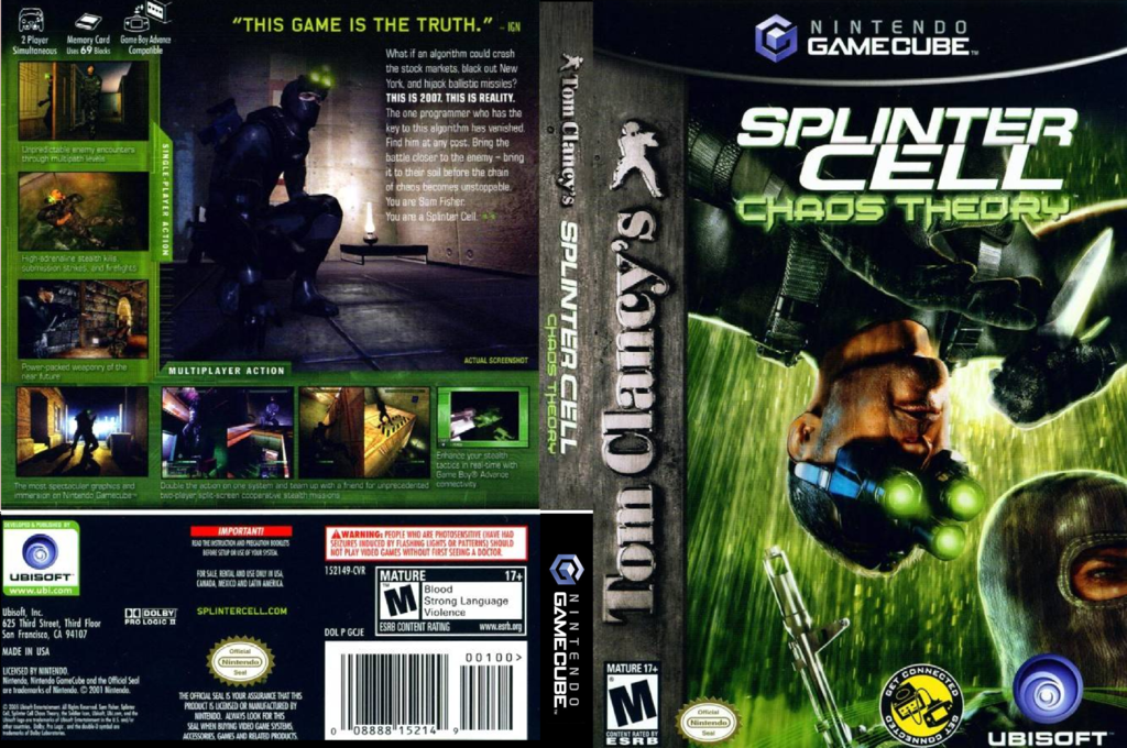 Tom Clancy's Splinter Cell: Chaos Theory Wii coverfullHQ (GCJE41)