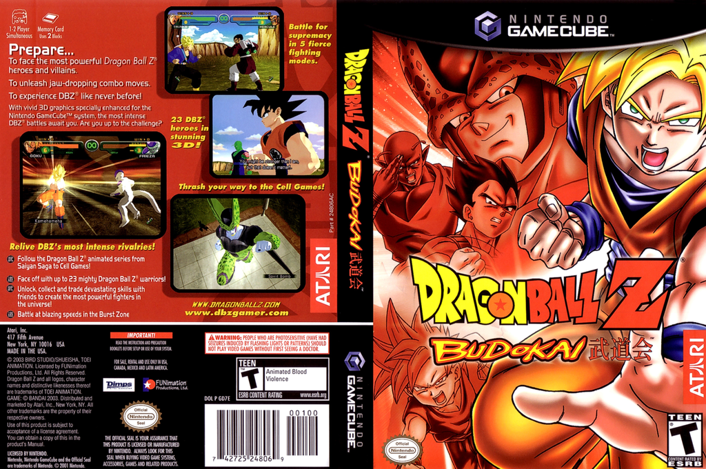 Dragon Ball Z - Budokai Wii coverfullHQ (GD7E70)