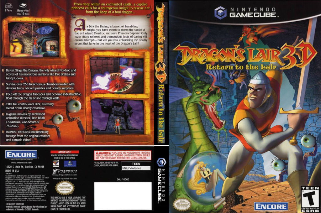 Dragon's Lair 3D: Return to the Lair Wii coverfullHQ (GDGE7H)