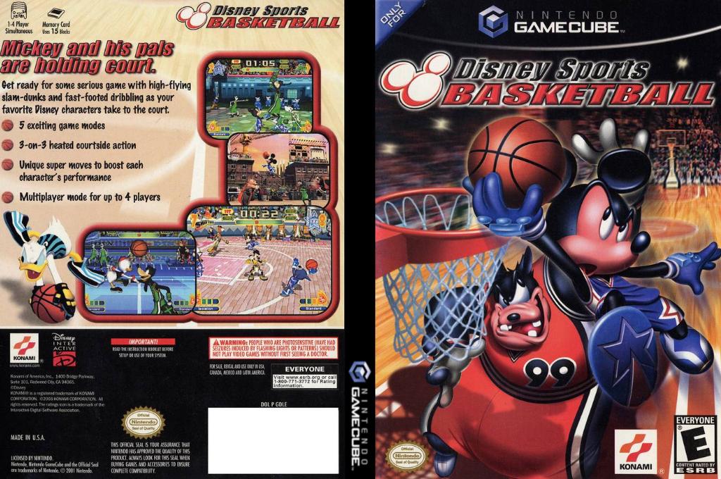 Disney Sports: Basketball Wii coverfullHQ (GDLEA4)