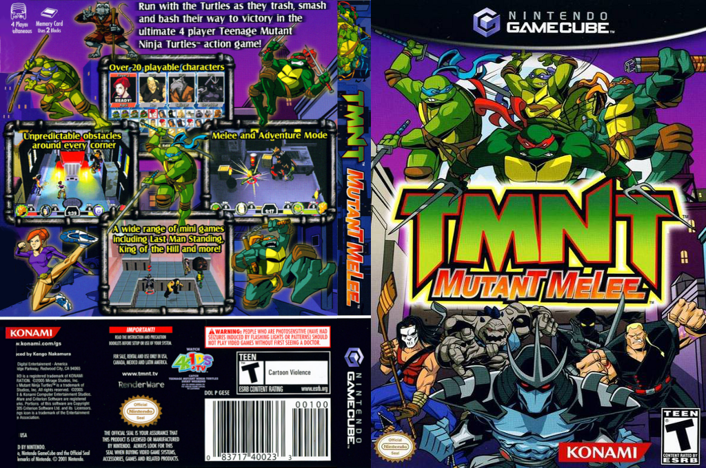 TMNT: Mutant Melee Wii coverfullHQ (GE5EA4)