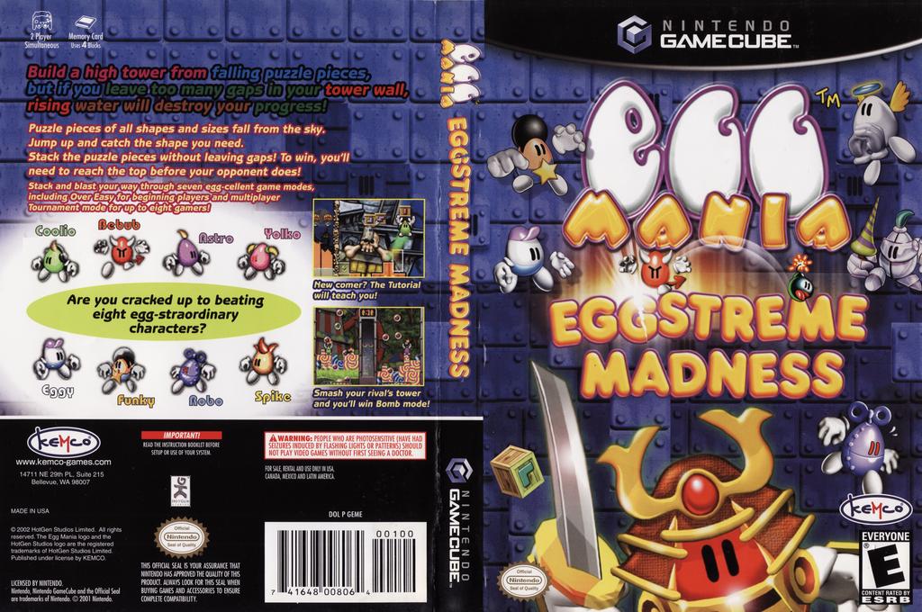 Egg Mania: Eggstreme Madness Wii coverfullHQ (GEME7F)