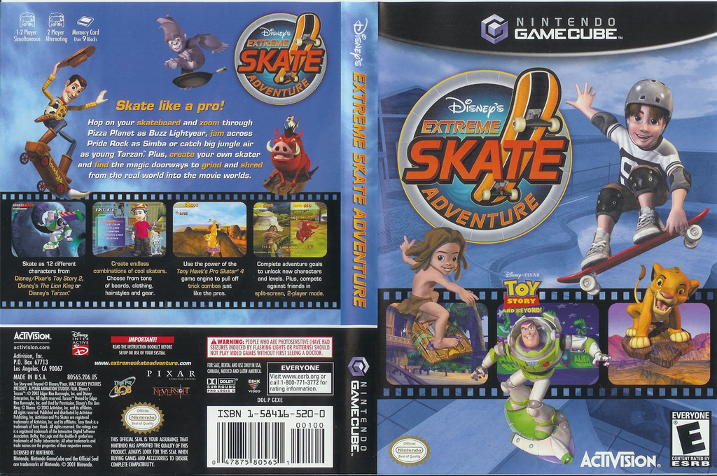 Disney's Extreme Skate Adventure Wii coverfullHQ (GEXE52)