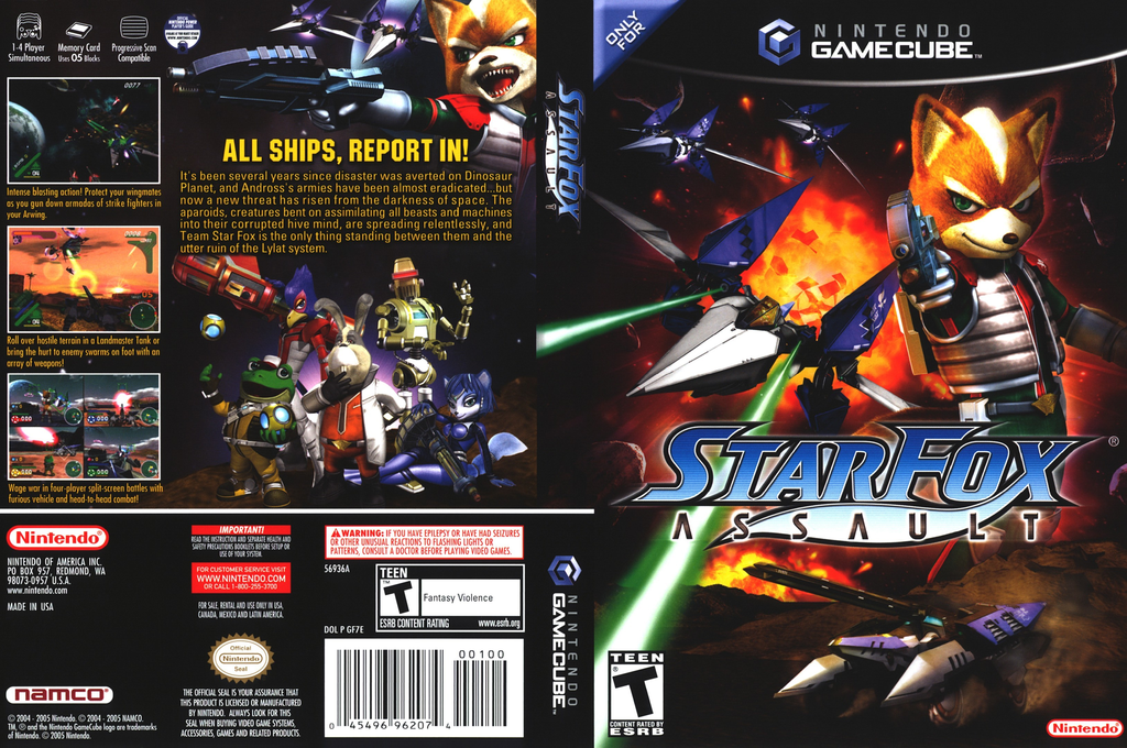 Star Fox: Assault Wii coverfullHQ (GF7E01)