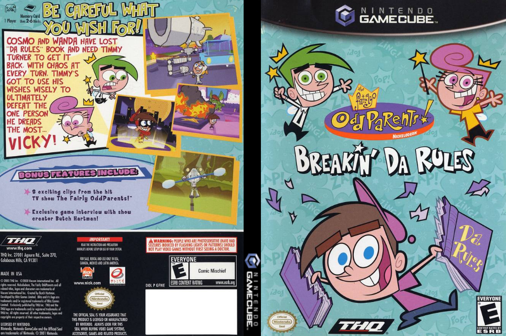 The Fairly OddParents: Breakin' Da Rules Wii coverfullHQ (GFWE78)