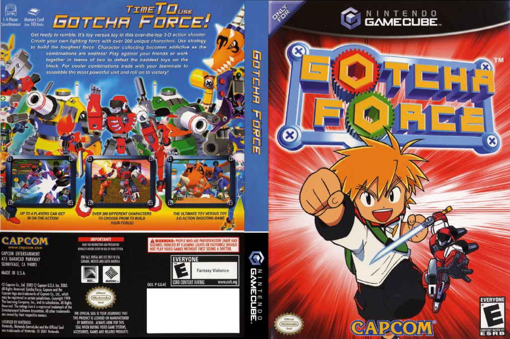 Gotcha Force Wii coverfullHQ (GG4E08)
