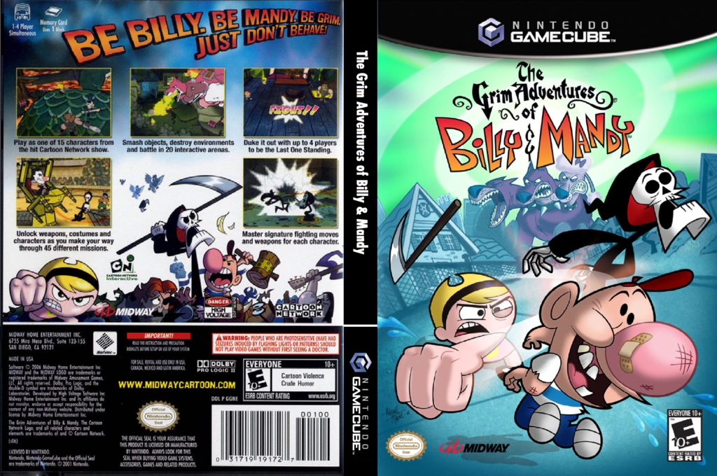 The Grim Adventures of Billy and Mandy Wii coverfullHQ (GGNE5D)