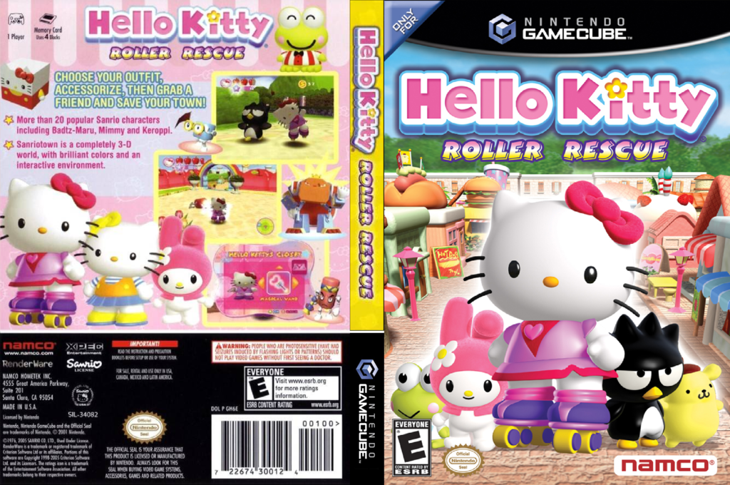 Hello Kitty:Roller Rescue Wii coverfullHQ (GH6EAF)