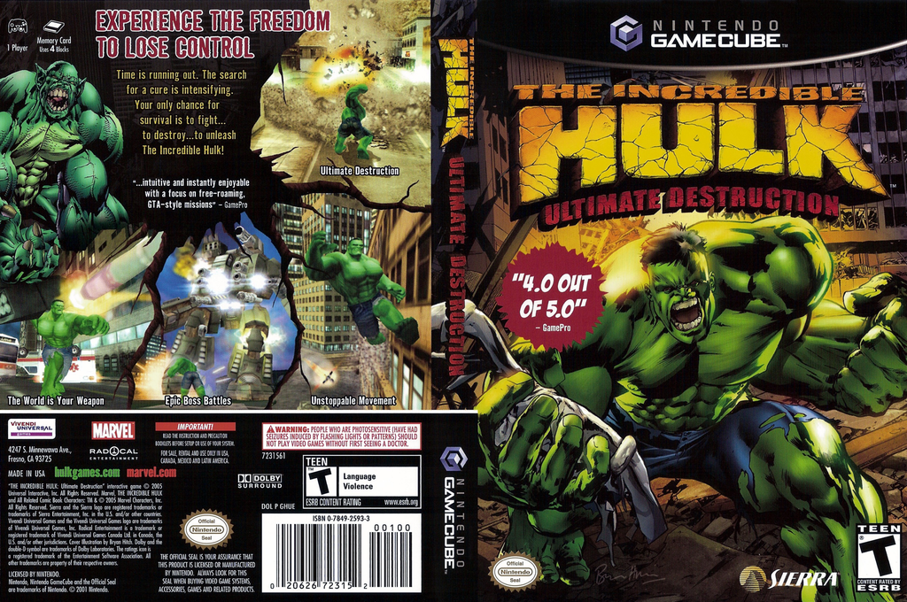 The Incredible Hulk: Ultimate Destruction Wii coverfullHQ (GHUE7D)