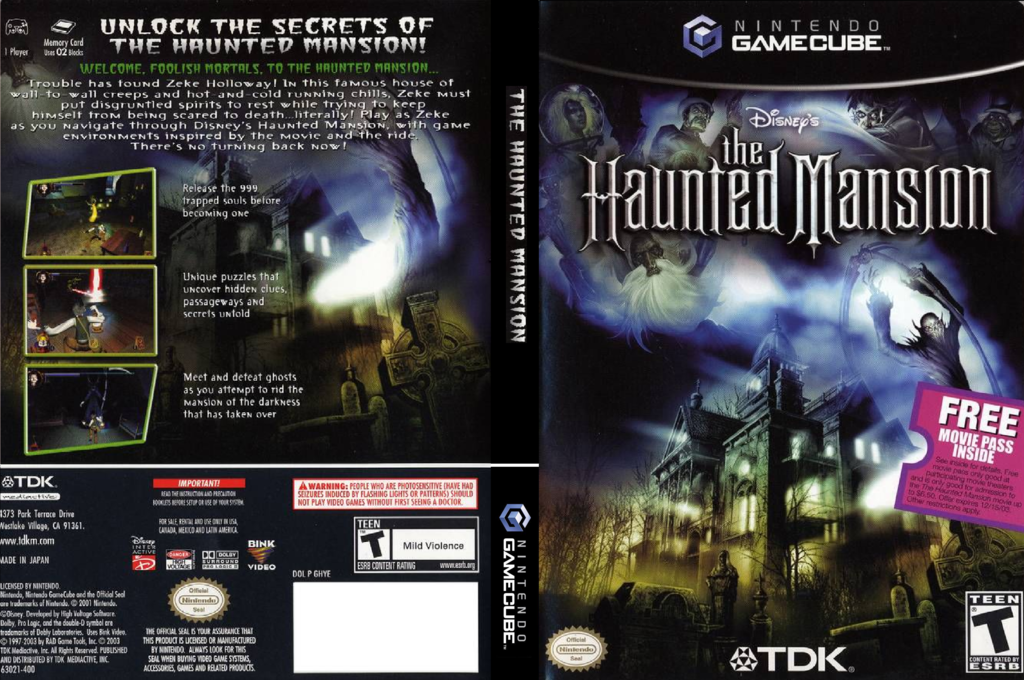 The Haunted Mansion Wii coverfullHQ (GHYE6S)