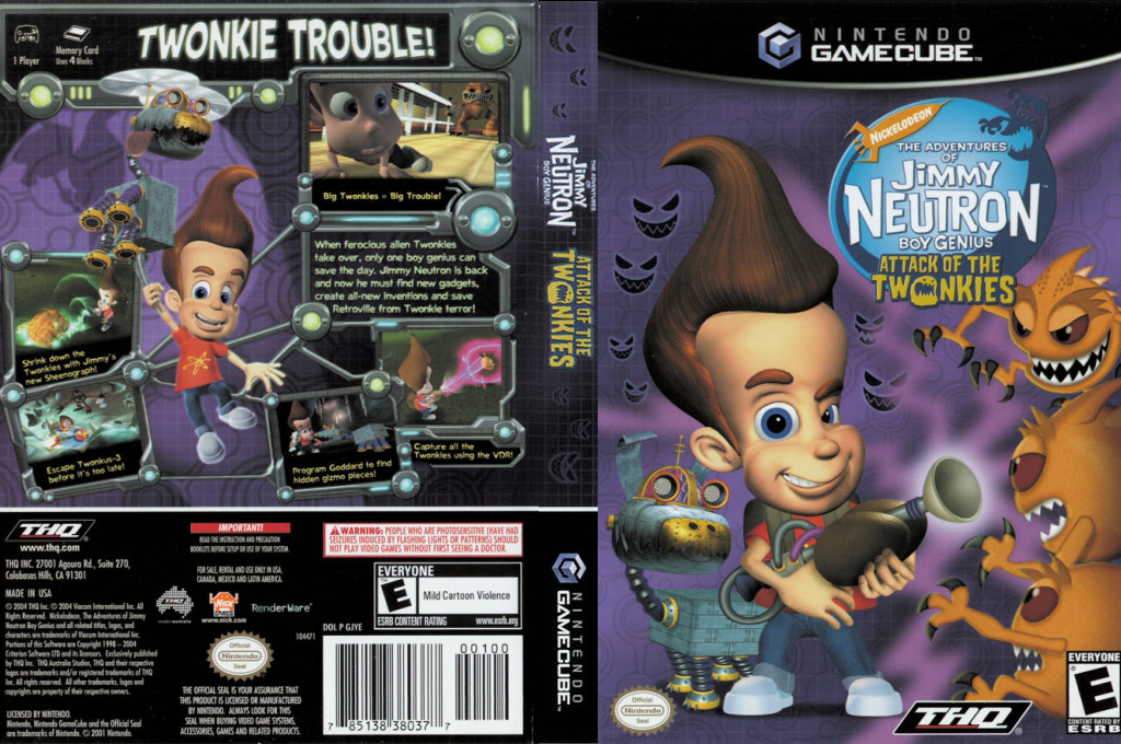Jimmy Neutron:Attack of the Twonkies Wii coverfullHQ (GJYE78)