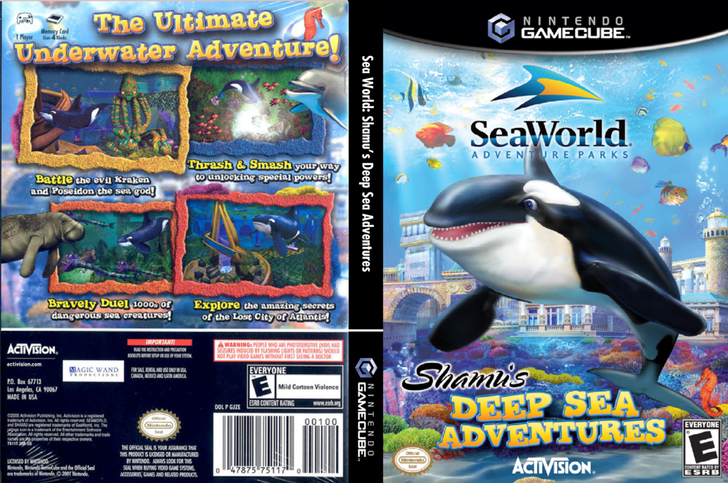 SeaWorld Adventure Parks: Shamu's Deep Sea Adventures Wii coverfullHQ (GJZE52)