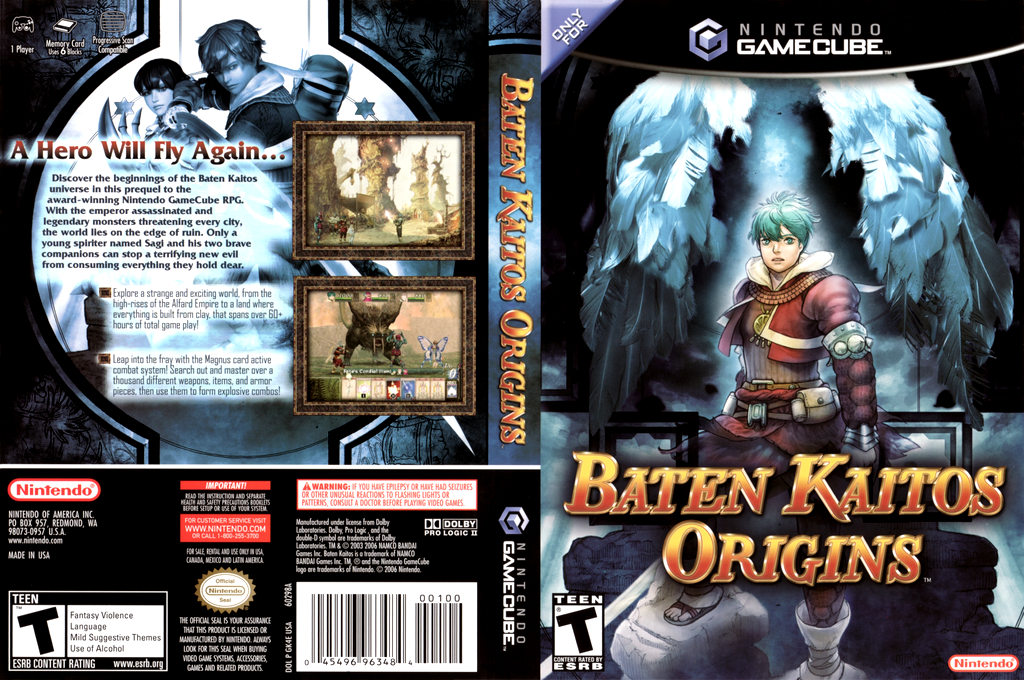 Baten Kaitos Origins Wii coverfullHQ (GK4E01)