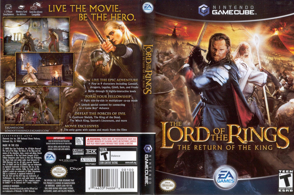 The Lord of the Rings: The Return of the King Wii coverfullHQ (GKLE69)