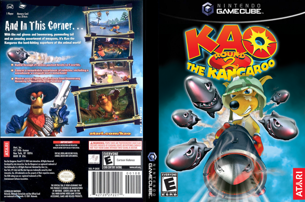 Kao The Kangaroo Round 2 Wii coverfullHQ (GKOE70)