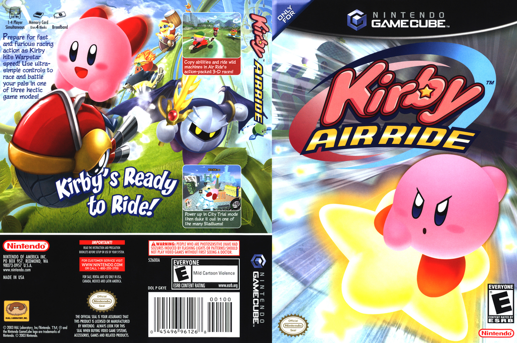 Kirby Air Ride Wii coverfullHQ (GKYE01)