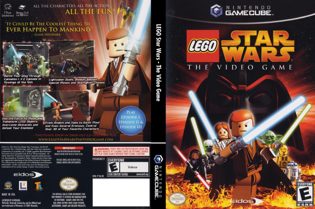 LEGO Star Wars: The Video Game Wii coverfullHQ (GL5E4F)