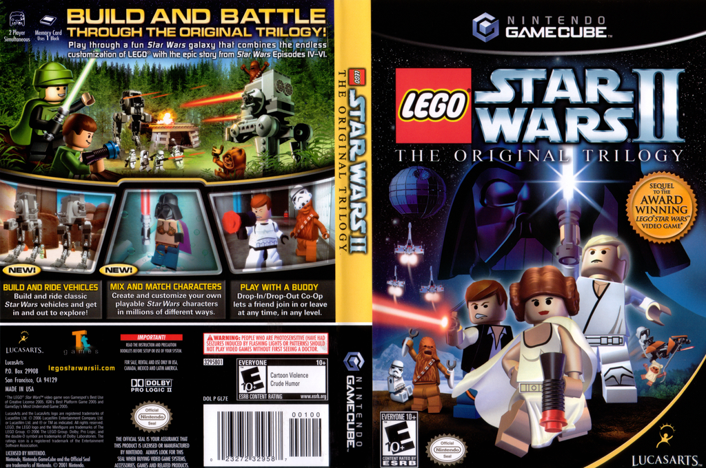 LEGO Star Wars II: The Original Trilogy Wii coverfullHQ (GL7E64)