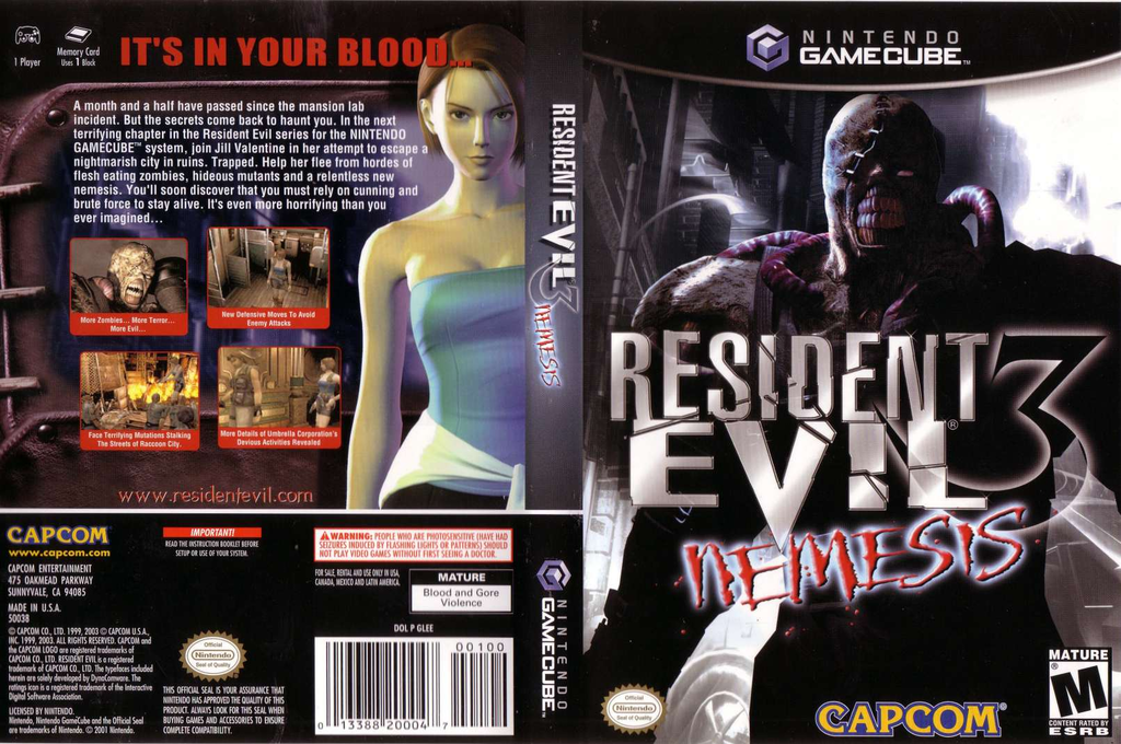 Resident Evil 3: Nemesis Array coverfullHQ (GLEE08)
