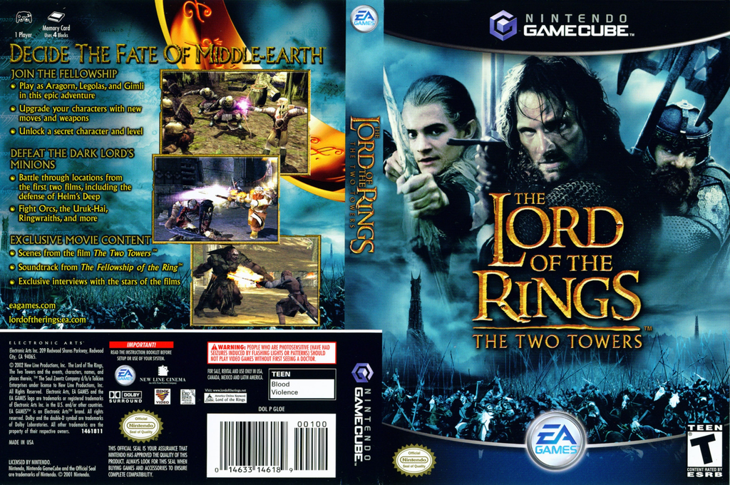 The Lord of the Rings: The Two Towers Wii coverfullHQ (GLOE69)