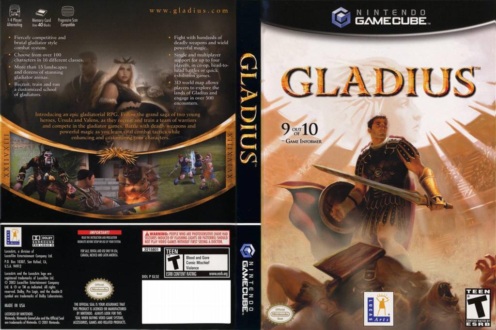 Gladius Wii coverfullHQ (GLSE64)