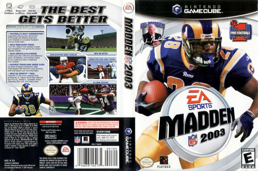 Madden NFL 2003 Wii coverfullHQ (GM3E69)