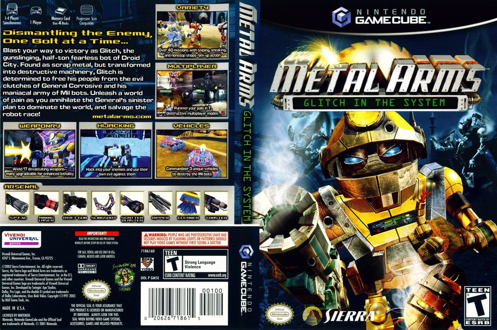 Metal Arms:Glitch in the System Wii coverfullHQ (GM5E7D)