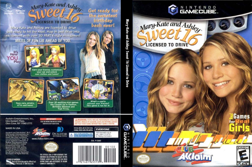 Mary-Kate and Ashley: Sweet 16 Licensed to Drive Wii coverfullHQ (GMAE51)