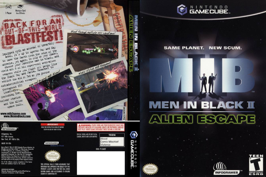 Men In Black II:  Alien Escape Wii coverfullHQ (GMEE70)