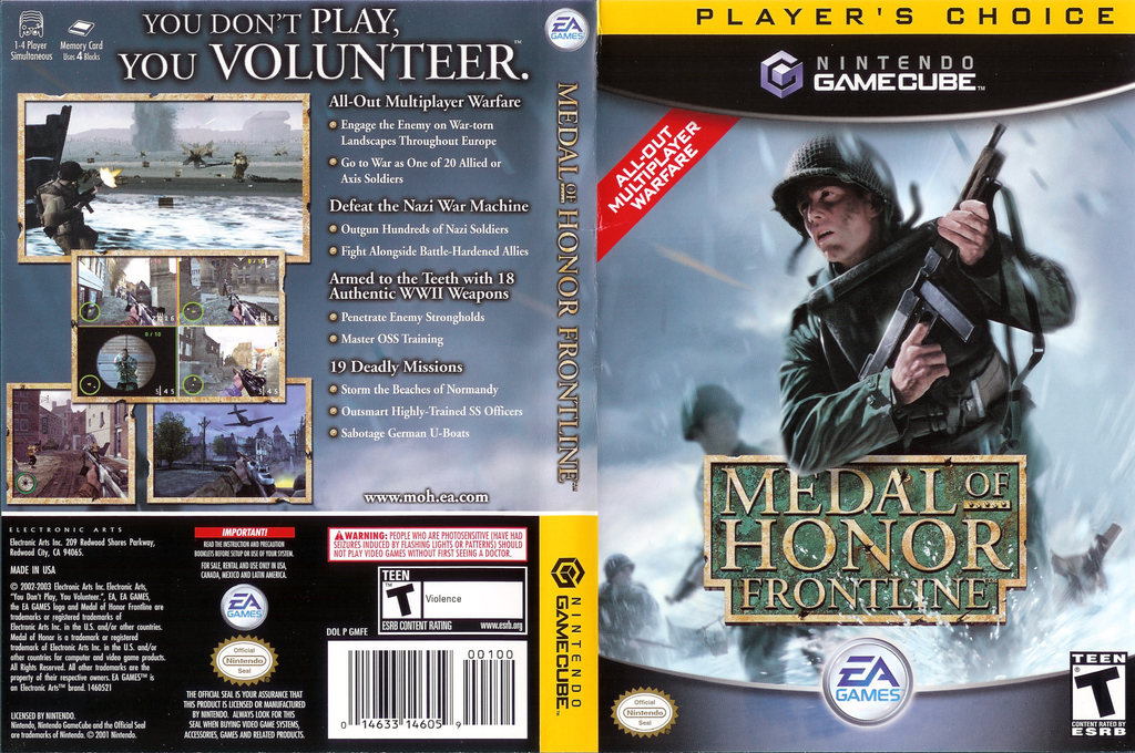 Medal of Honor: Frontline Wii coverfullHQ (GMFE69)