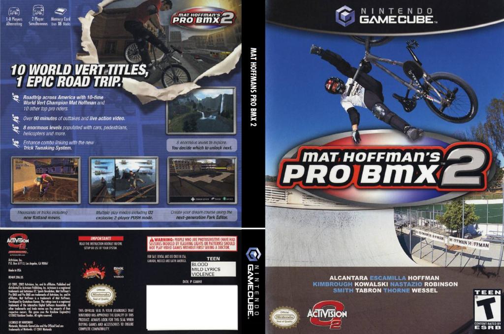 Mat Hoffman's Pro Bmx 2 Wii coverfullHQ (GMHE52)