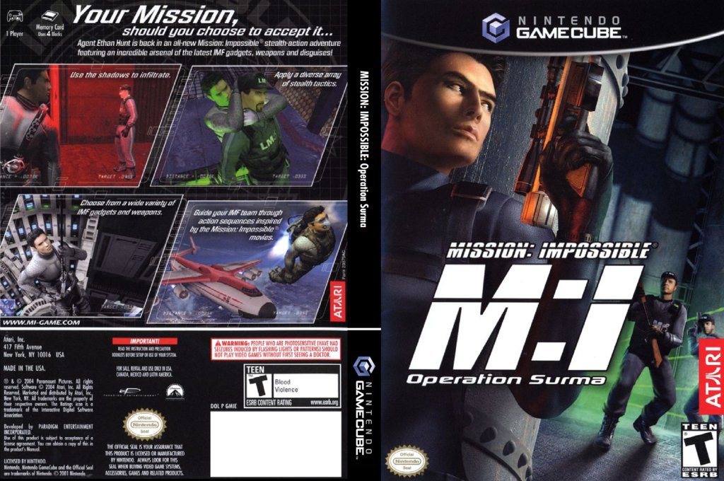 Mission Impossible: Operation Surma Wii coverfullHQ (GMIE70)