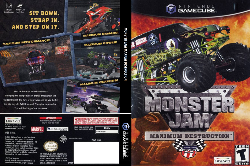 Monster Jam: Maximum Destruction Wii coverfullHQ (GMJE41)