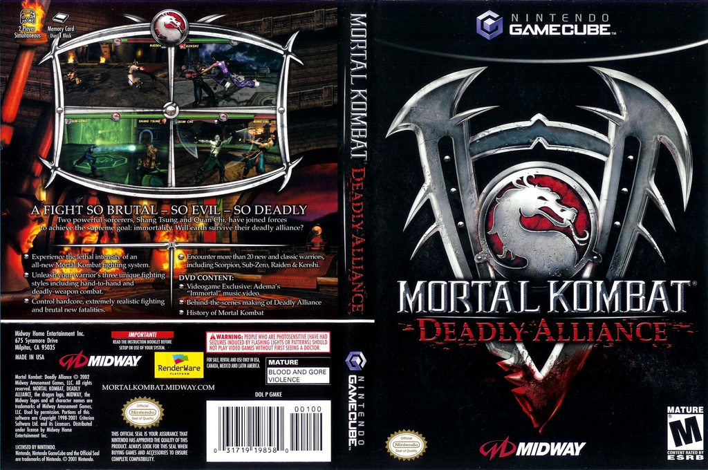 Mortal Kombat: Deadly Alliance Wii coverfullHQ (GMKE5D)