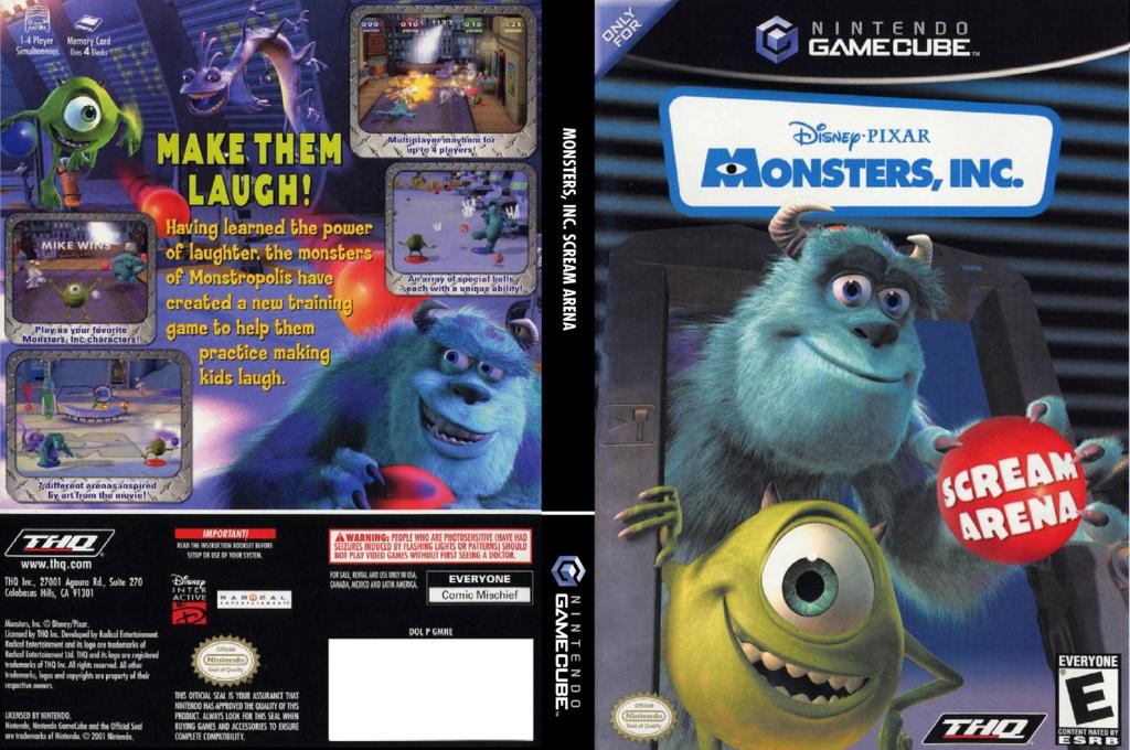 Monsters, Inc. Scream Arena Wii coverfullHQ (GMNE78)