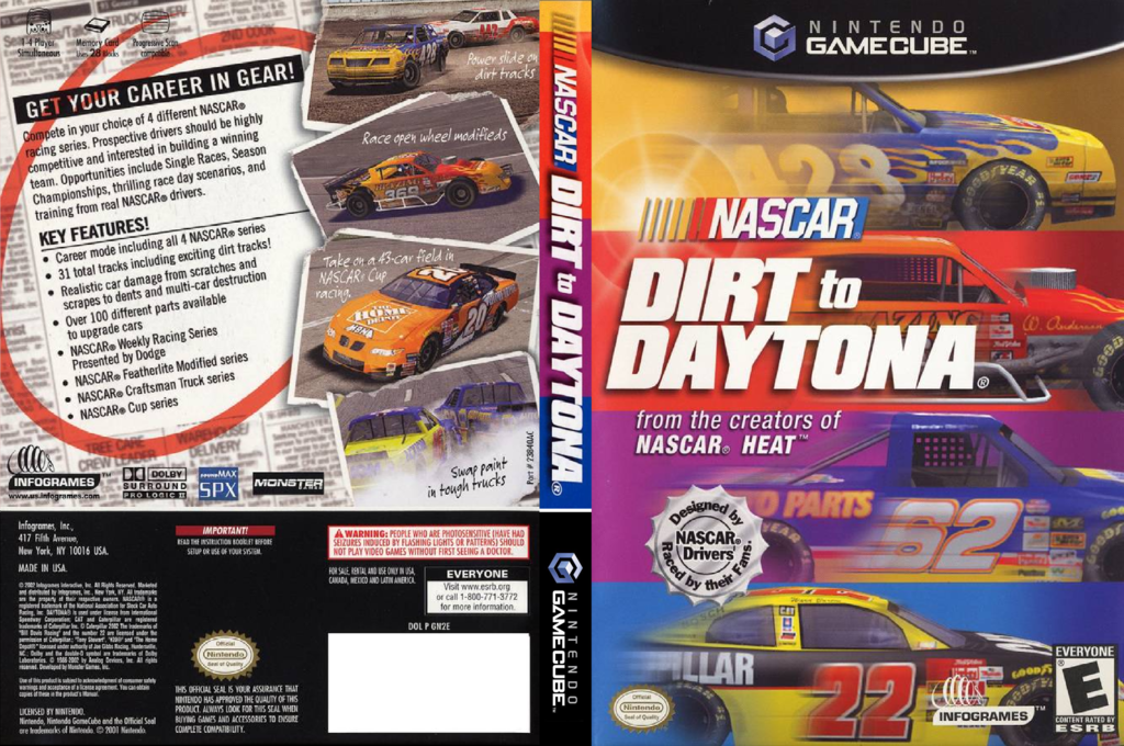 Nascar: Dirt To Daytona Wii coverfullHQ (GN2E70)