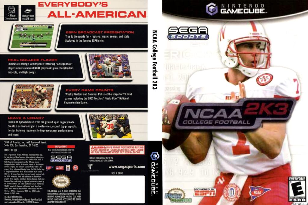 NCAA College Football 2K3 Wii coverfullHQ (GNAE8P)