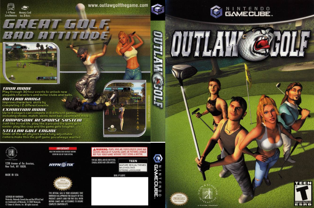 Outlaw Golf Wii coverfullHQ (GOFE7L)