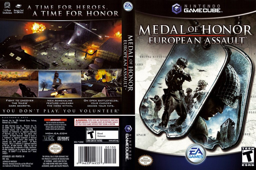 Medal of Honor: European Assault Wii coverfullHQ (GONE69)
