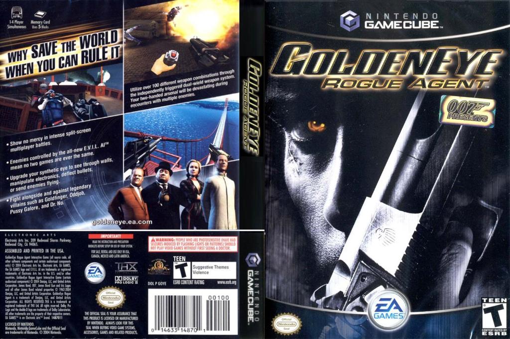 GoldenEye: Rogue Agent Wii coverfullHQ (GOYE69)