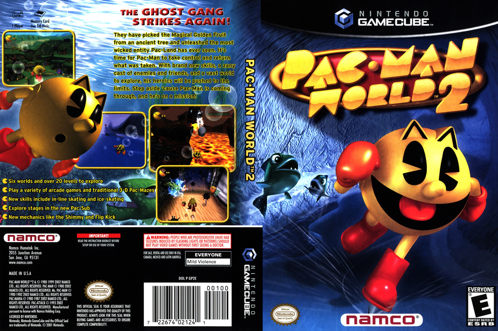 Pac-Man World 2 Wii coverfullHQ (GP2EAF)
