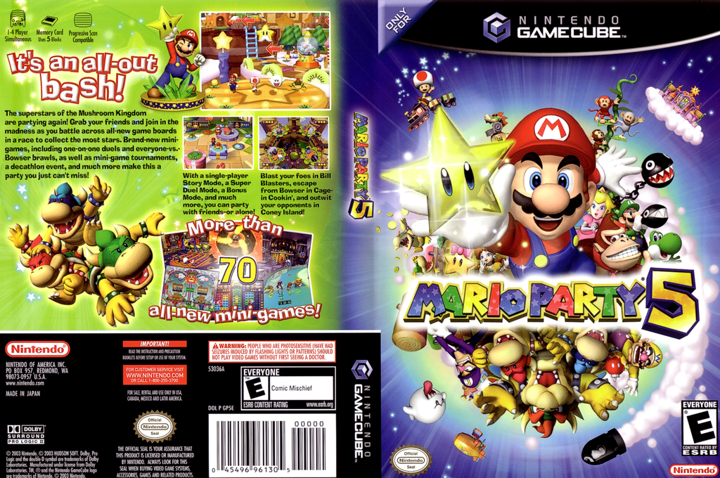 Mario Party 5 Wii coverfullHQ (GP5E01)