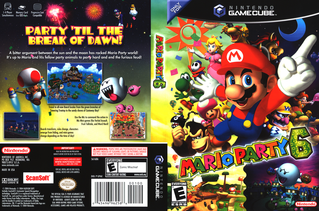 Mario Party 6 Wii coverfullHQ (GP6E01)