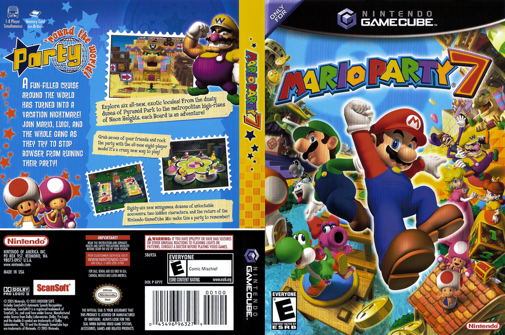 Mario Party 7 Wii coverfullHQ (GP7E01)