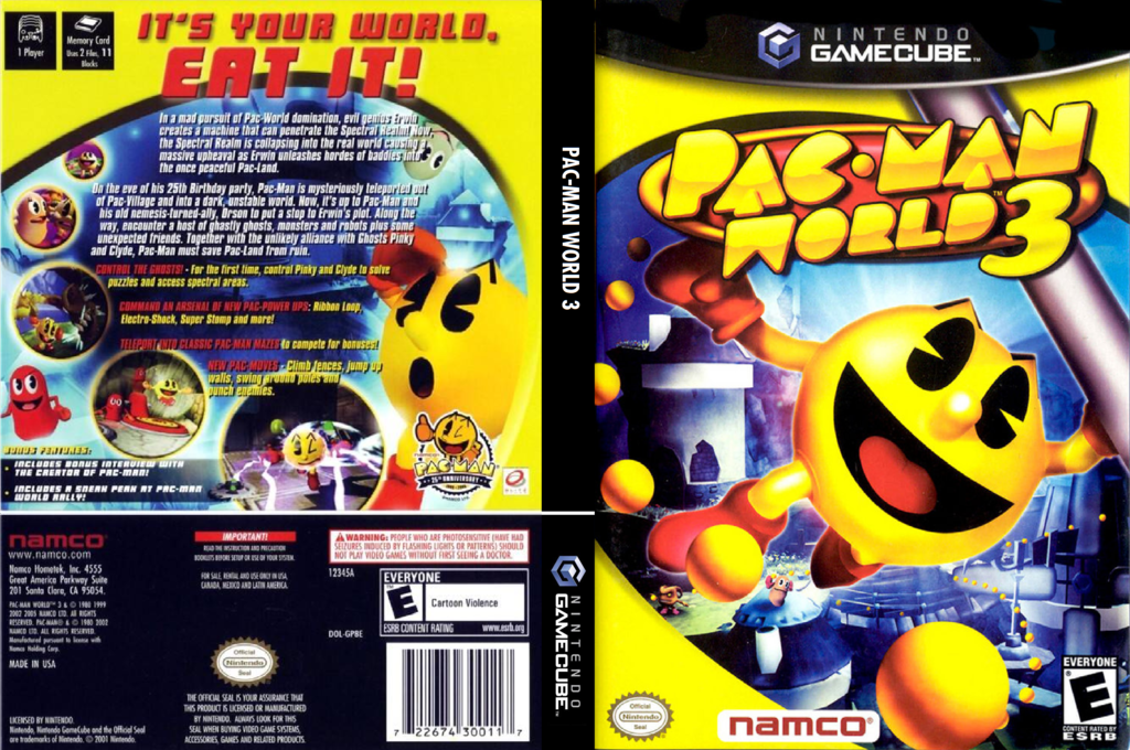 Pac-Man World 3 Wii coverfullHQ (GP8EAF)