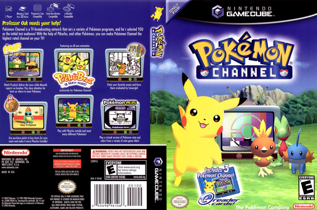 Pokémon Channel Wii coverfullHQ (GPAE01)